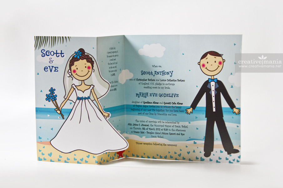 Funny Wedding Invite Poems: Stylish Cartoon Wedding Invitation