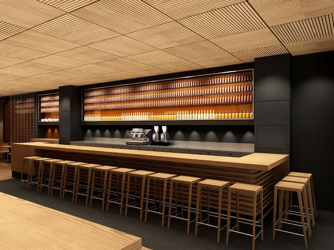 Restaurante cerveceria catalana ochoadesign for Barra bar moderna