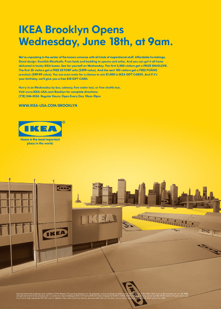 ikea brooklyn grand opening ads